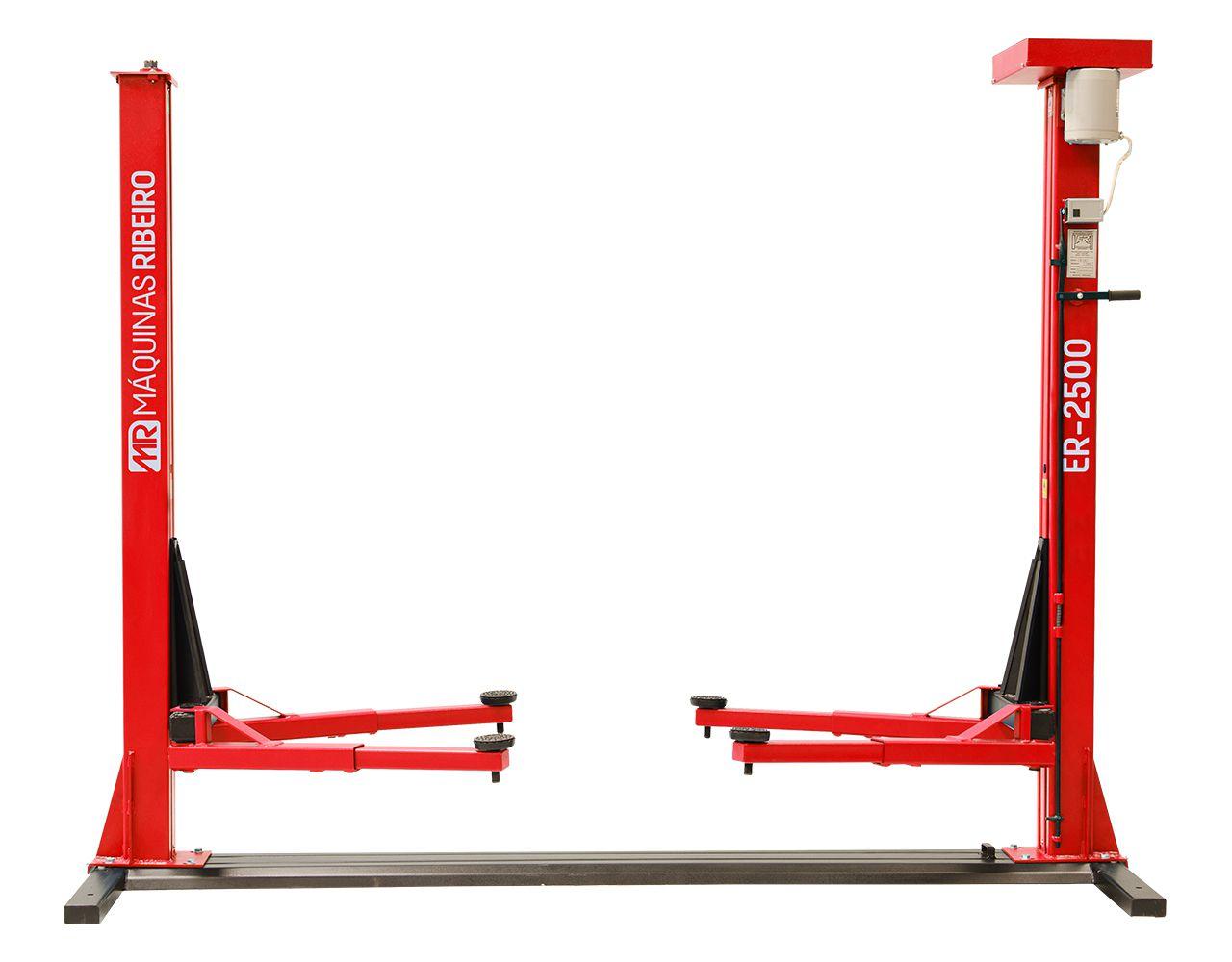 Elevador Trifásico Automotivo 2500Kg Vermelho ER2500 4CV-4P - RIBEIRO