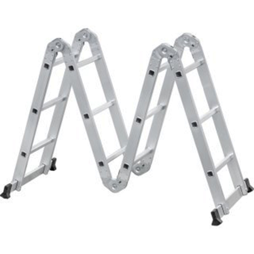 Escada Articulada Multifuncional em Alumínio 12 Degraus 3 x 4 - VONDER