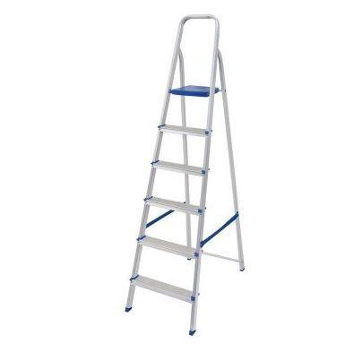 Escada De Aluminio 6 Degraus Doméstica -  MOR