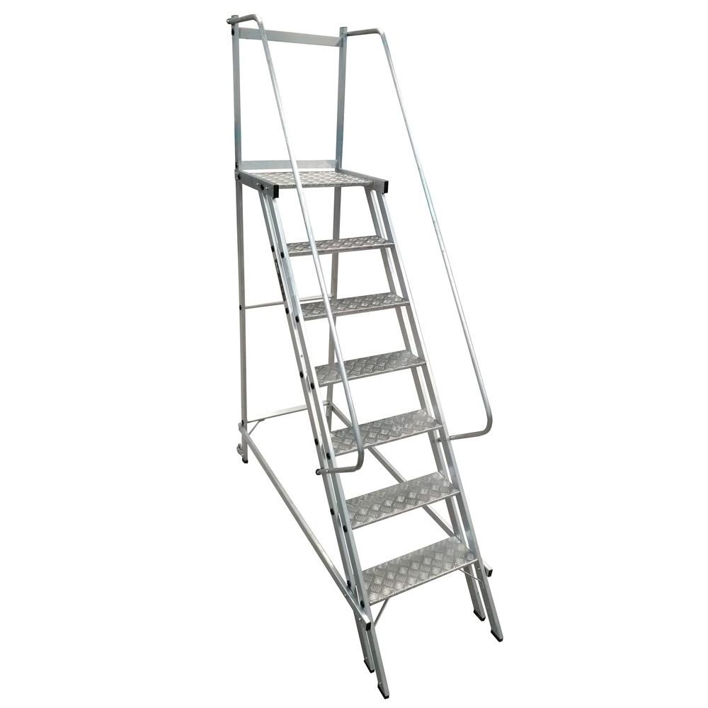 Escada De Alumínio Trepadeira 6DG+PLAT TRE175 Corrimão Duplo – Alustar