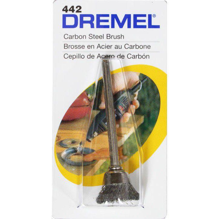 Escova de Aço Carbono 1/2'' 442 - DREMEL