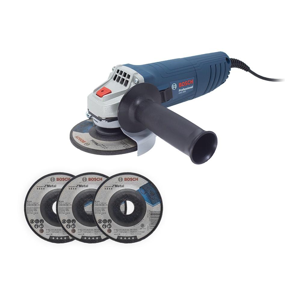 Esmerilhadeira GWS 850 220v M14 + 3 Discos 06013775E8 - Bosch