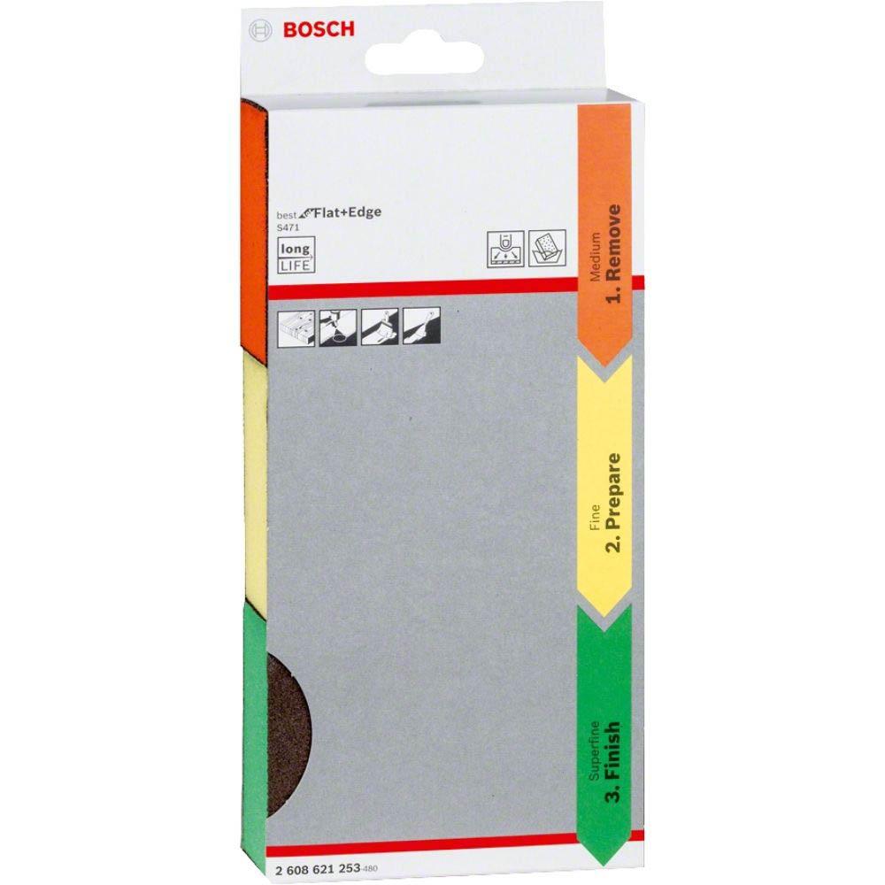 Espuma Abrasiva Bosch Best for Flat Edge; 69x26x97mm M/F/Sf