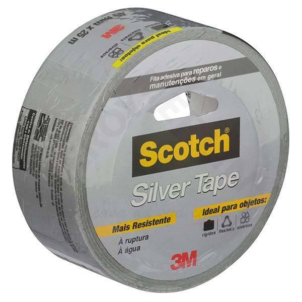 Fita Multiuso Silver Tape 45mm x 25m Cinza - 3M