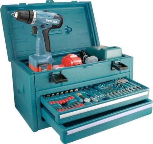 Furadeira / Parafusadeira a Bateria 12V 6271 DWPETC 220V c/ Kit de Ferramentas - MAKITA