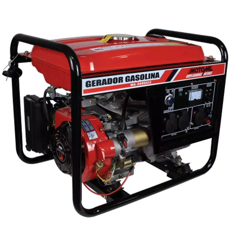 Gerador A Gas. 3,0 KVA Monof 110/220V Manual MG3000CL - Motomil