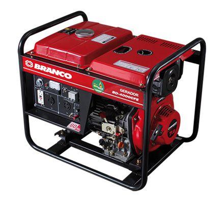 Gerador de Energia a Diesel 3,0 KVA BD 4000 110/220V - BRANCO