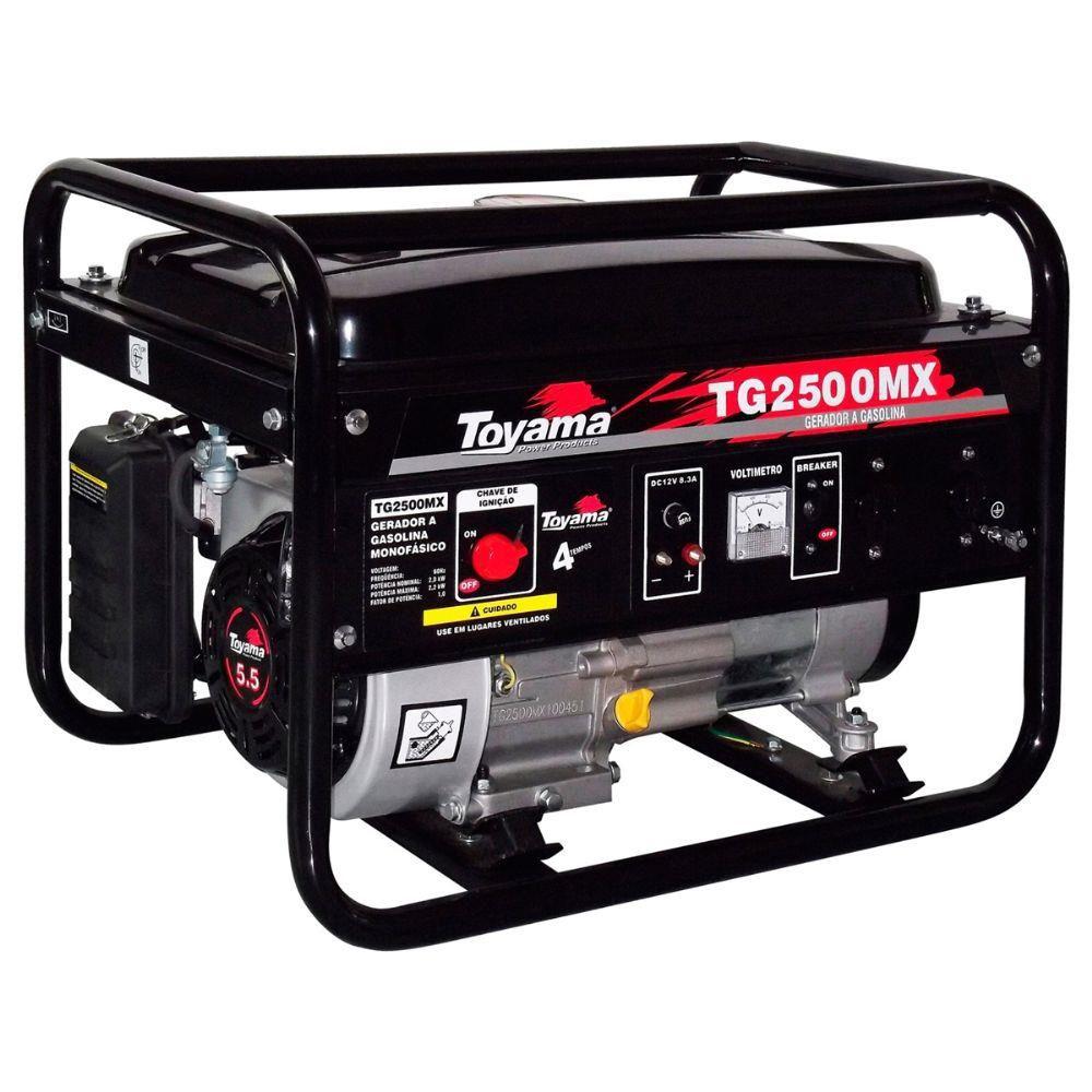 Gerador de Energia a Gasolina 2,5 KVA TG 2500 MX2 220V - TOYAMA