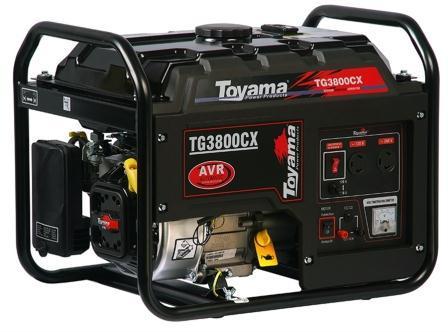 Gerador de Energia a Gasolina 3,5 KVA Bivolt TG 3800 CX - TOYAMA