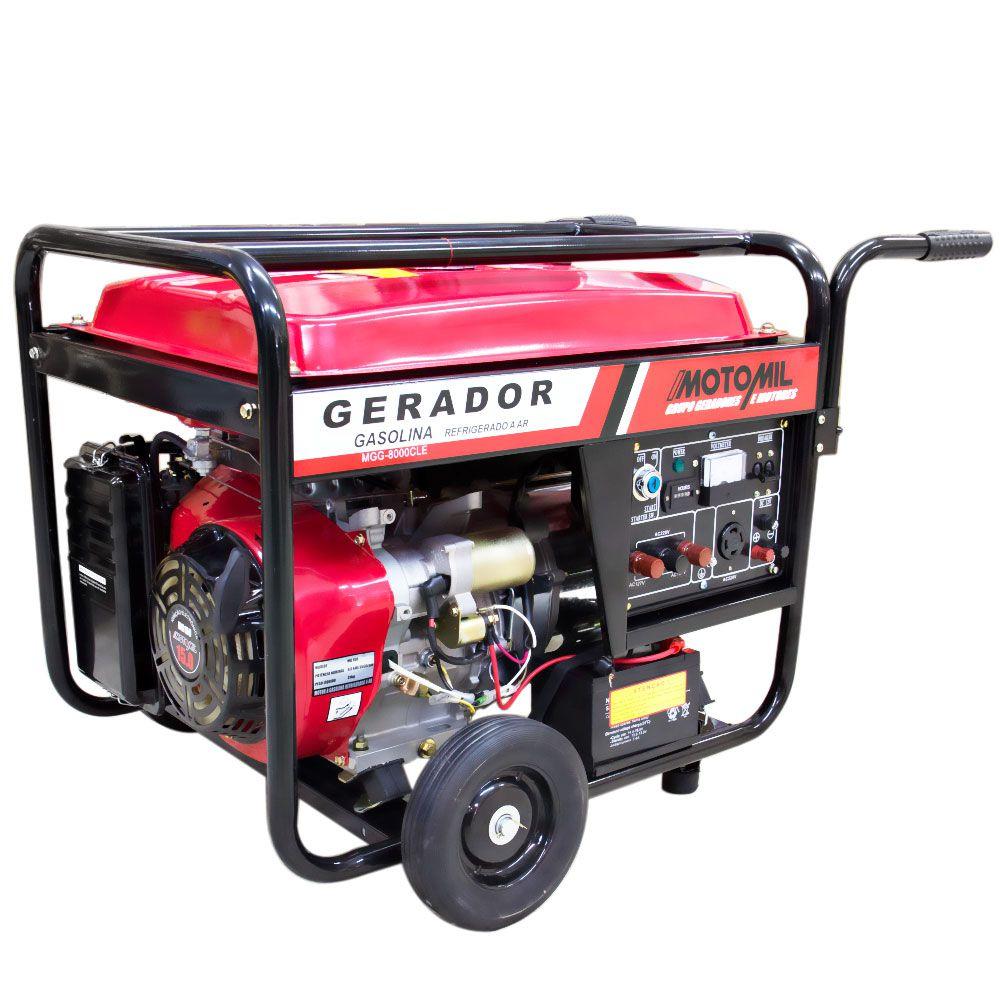 Gerador de Energia à Gasolina 4T 8Kva 110/220V MGG8000CLE - MOTOMIL