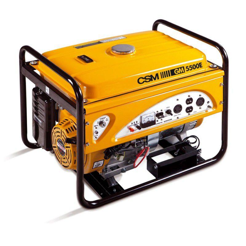 Gerador de Energia a Gasolina 5,5 KVA GM 5500 E 110/220V - CSM