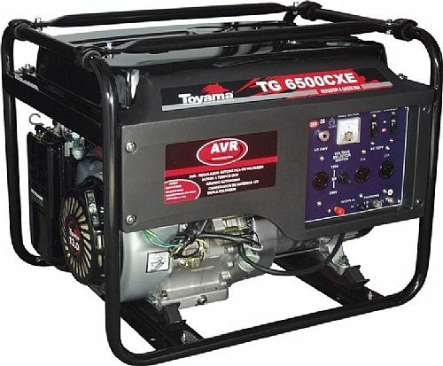 Gerador de Energia a Gasolina 6 KVA TG 6500 CXE Bivolt - TOYAMA