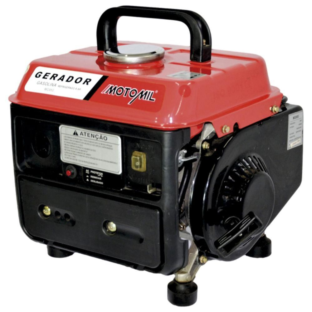 Gerador de Energia a Gasolina 800W MG 950 110V - MOTOMIL