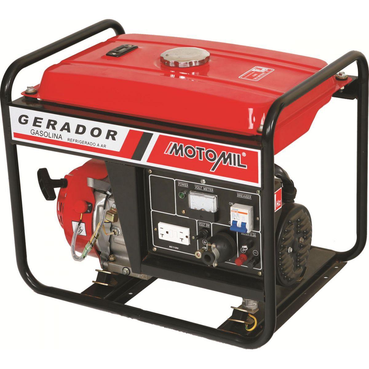 Gerador de Energia A Gasolina Mono 5000W MG5000CL - MOTOMIL