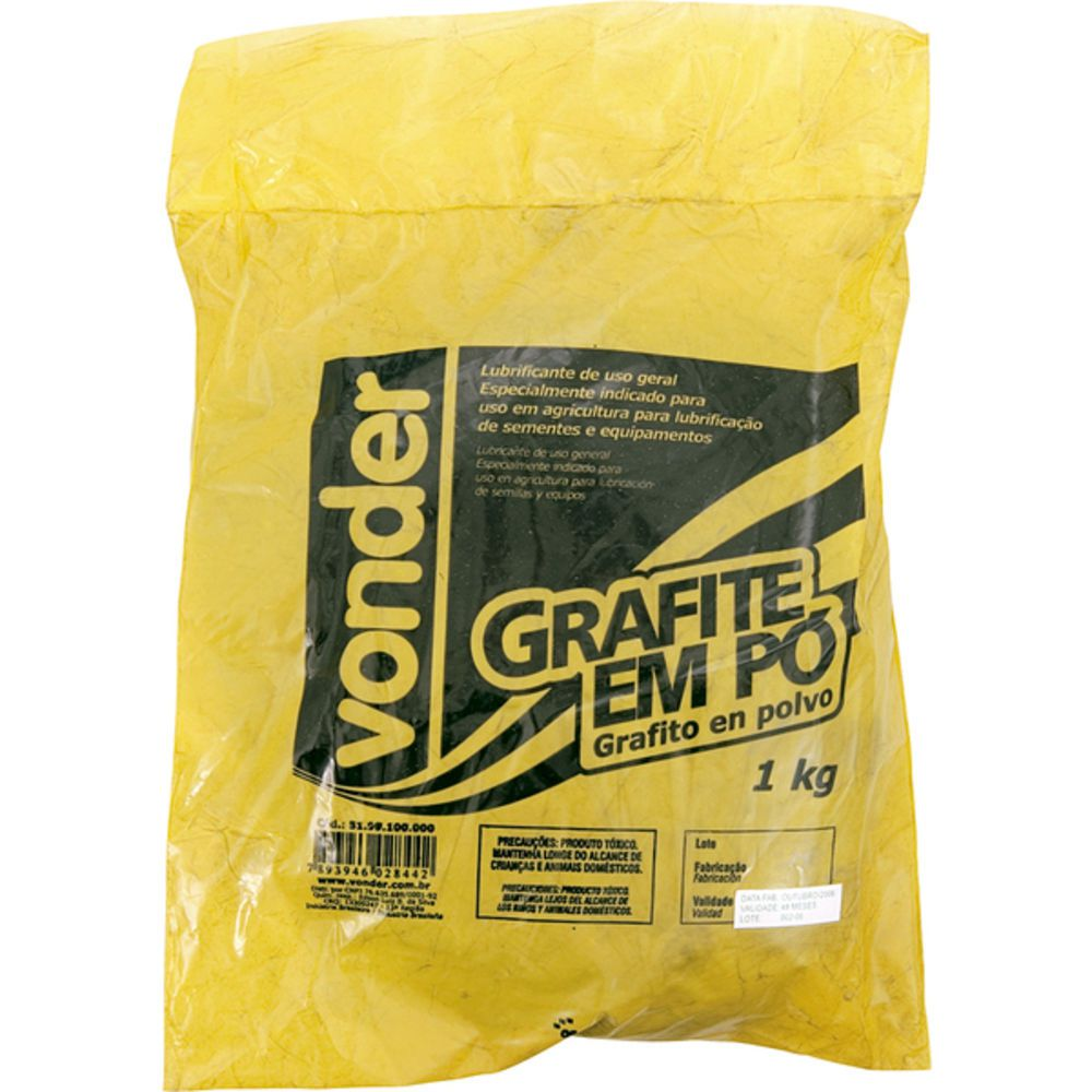 Grafite Em Pó 1 Kg 51 99 100 000 - Vonder