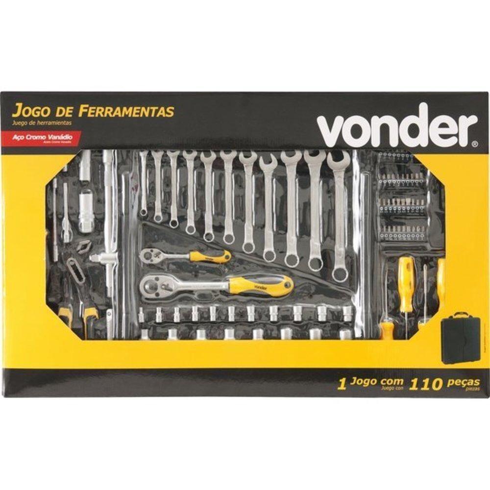 Jogo De Ferramentas 110 Pçs Cromo Vanadium - VONDER