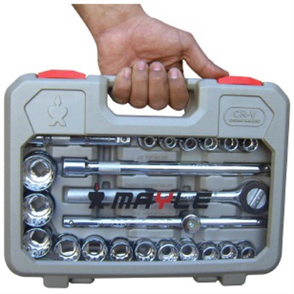 Jogo de Soquete 8 a 32mm c/ 23 Peças 110023 - MAYLE REF