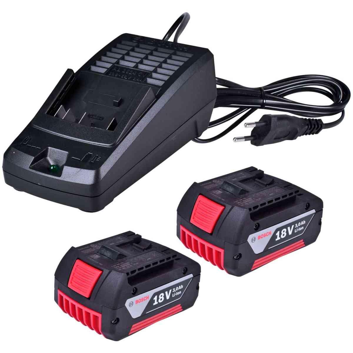 KIT 02 Baterias GBA 18V 3.0AH + Carregador Bivolt + AL1814CV 1600A019CJ - Bosch