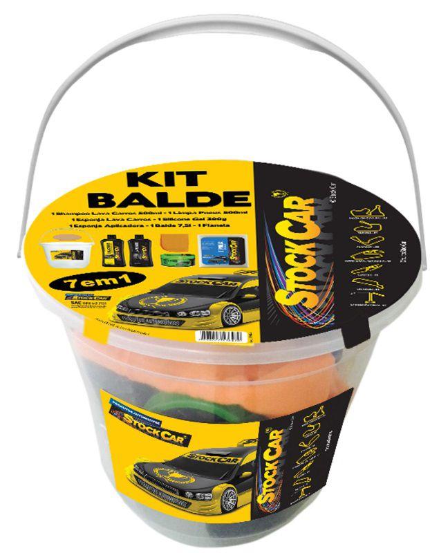 Kit Balde 7 Em 1 Limpeza Automotivo - STOCKCAR