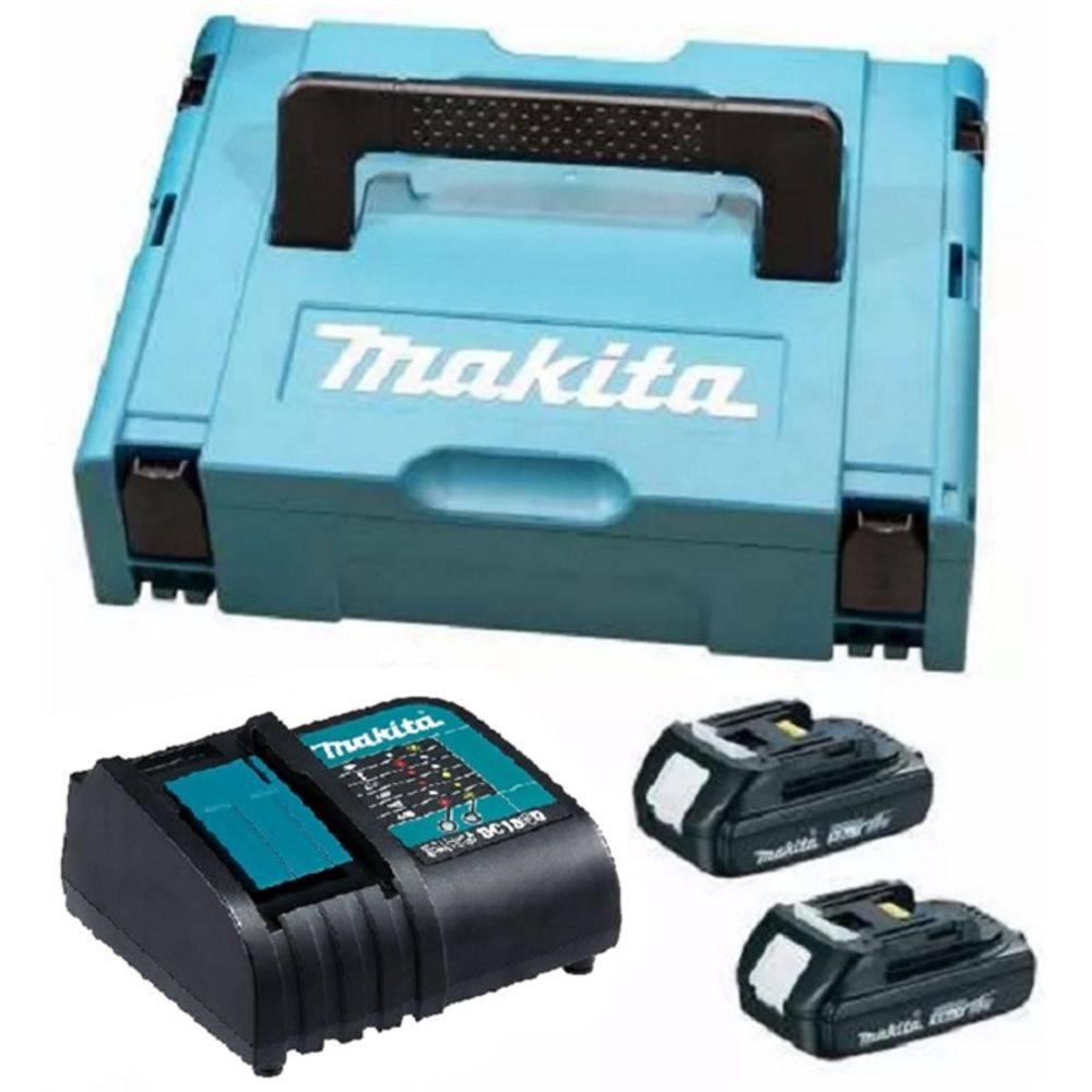 Kit C/ 2 Baterias BL1815N + Carregador DC18SD + Maleta - MAKITA