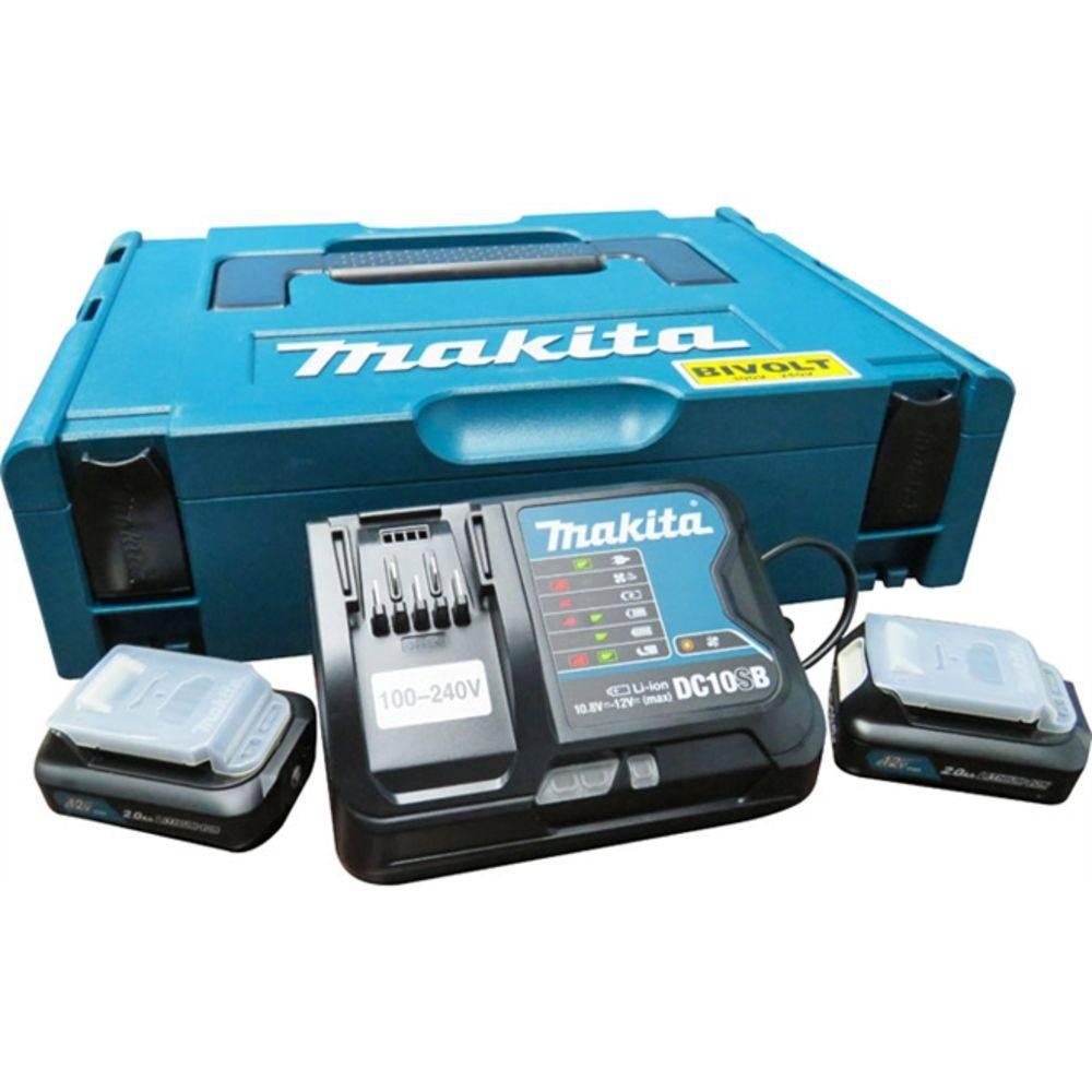 Kit Carregador Bivolt+2 Baterias 12V 2.0AH + Maleta 197656-9 - MAKITA