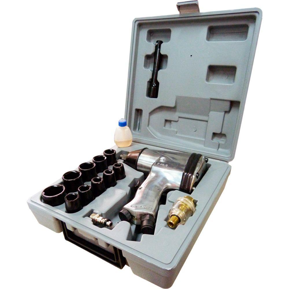 "Kit Chave de Impacto Pneumática 1/2"" LX 001 - V8 BRASIL"