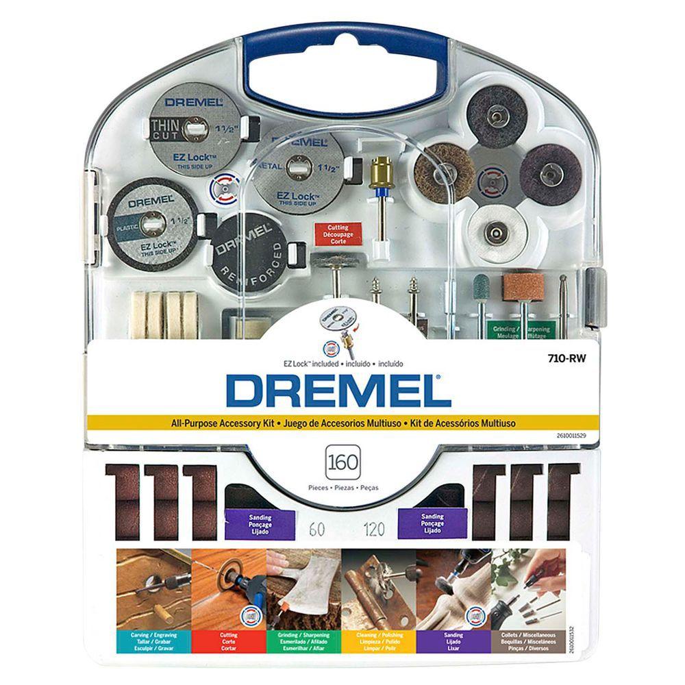 Kit de Acessórios para Uso Geral c/ 160 Peças 710RW - DREMEL