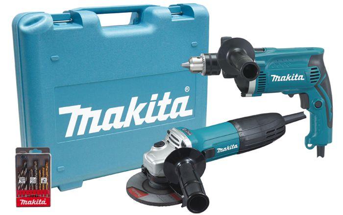 Kit Furadeira de Impacto Esmerilhadeira DK1149 110V - Makita