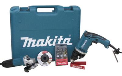 Kit Furadeira de Impacto + Esmerilhadeira Angular DK1149 220V c/ Maleta - MAKITA