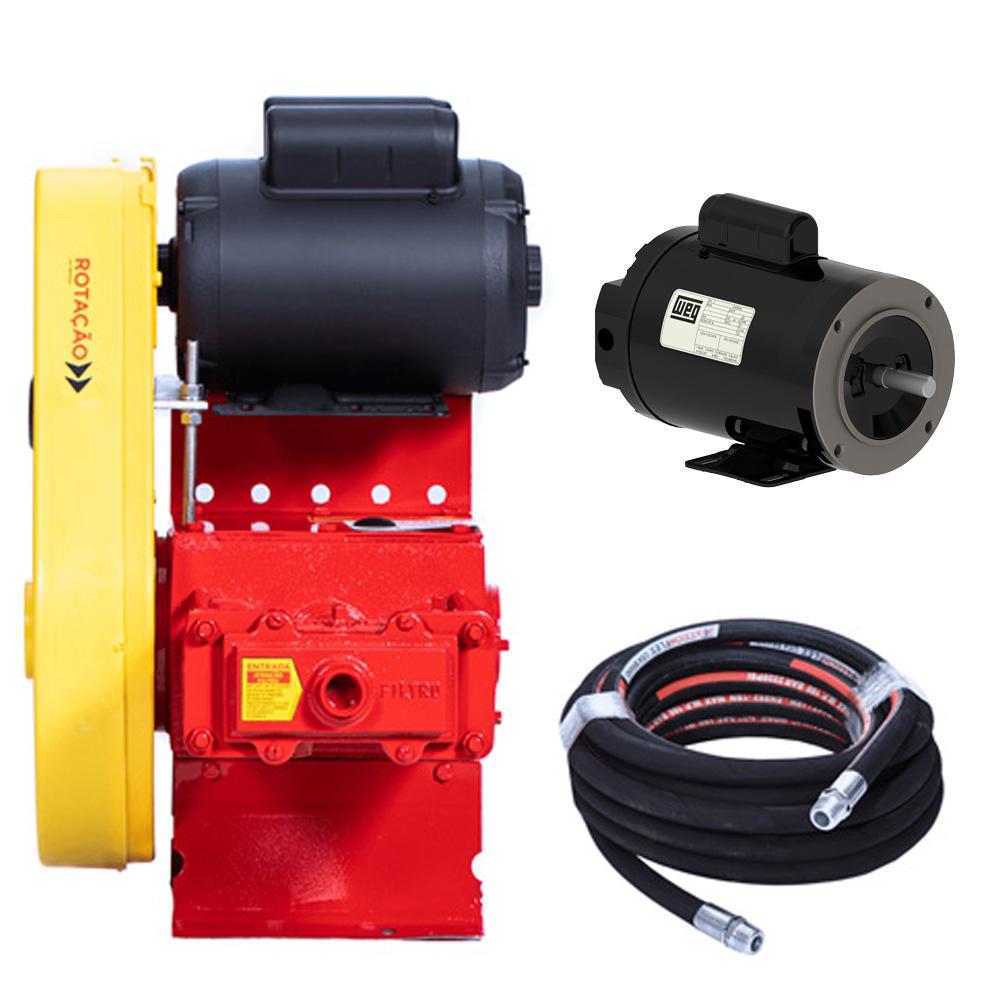 Kit lavadora fixa c/motor trifásico bh-6100 - hidromar