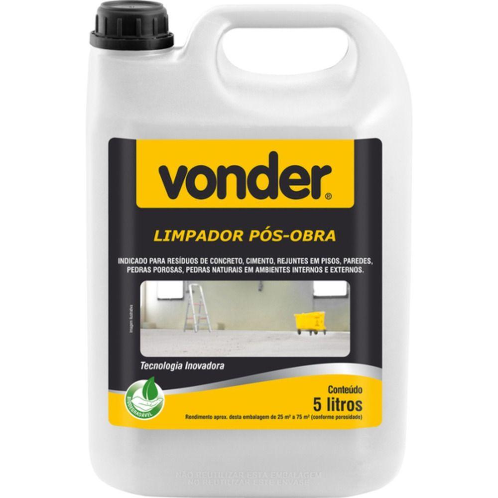Limpador Pós Obra Biodegradável 5LT - VONDER