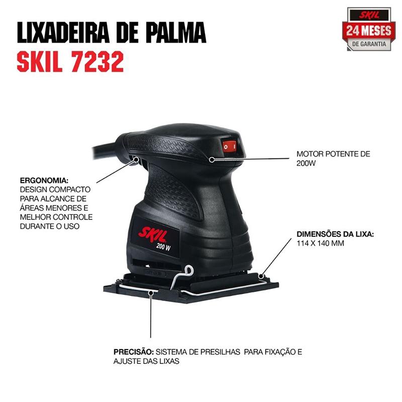 Lixadeira Oscilante 200W 7232 110V - SKIL