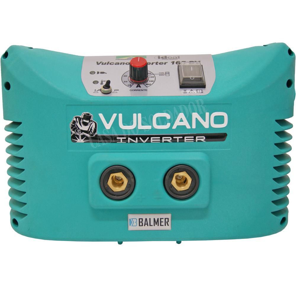 Maquina de Solda Inversora Bivolt 160A Vulcano 165DV - Balmer