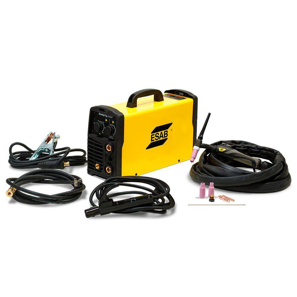 Máquina de Solda Inversora Buddy Tig 200 HF com Kit de Acessórios para Tocha - ESAB