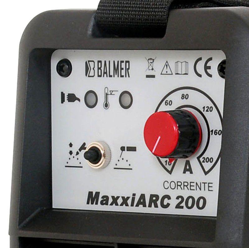 Maquina De Solda Inversora Maxxiarc 200 Monofásico - Balmer