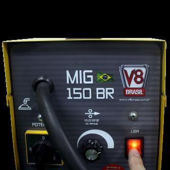 Máquina de Solda Mig 150BR Eletrônica 220V Monofásica - V8