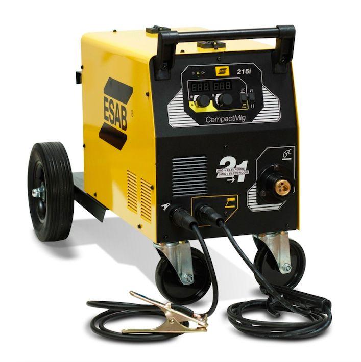Máquina de Solda MIG e Eletrodo Compact Mig 215i ESAB