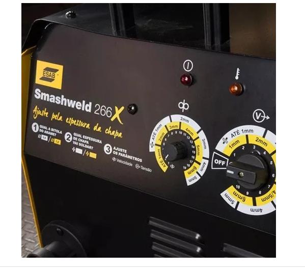 Maquina De Solda Mig/mag 250a Trifasica Smashweld 266x Esab + KIT