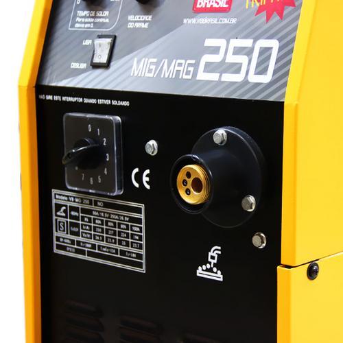 Maquina de Solda Mig/Mag 250BR C/ Tocha Monofásica - V8