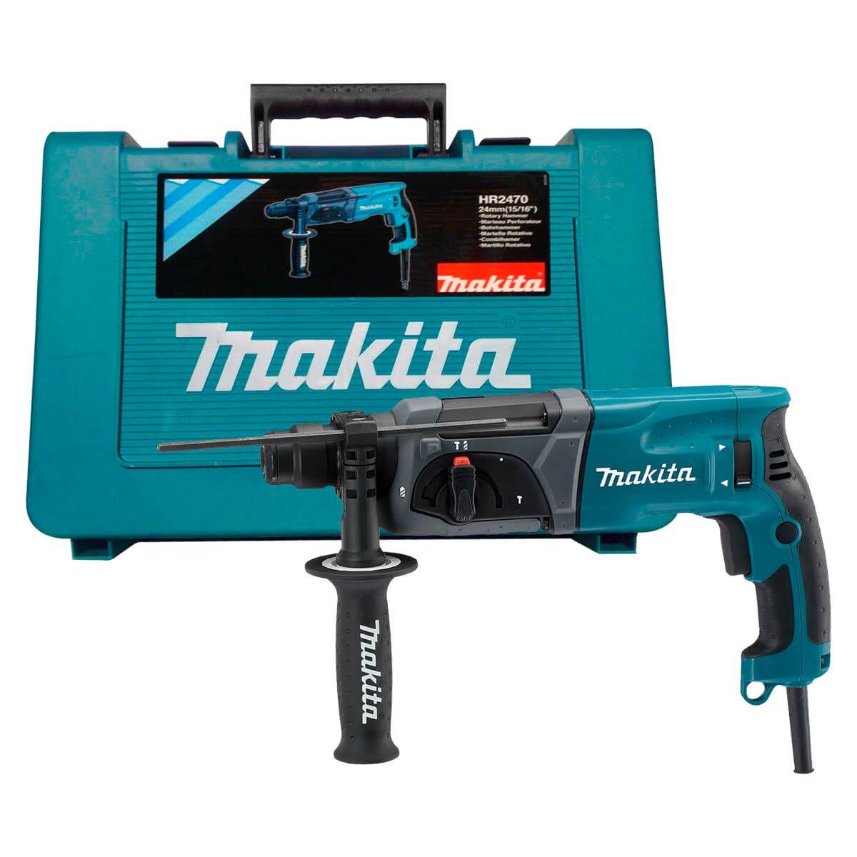 Martelete Rotativo Rompedor 800W HR 2470 110V c/ Maleta - MAKITA