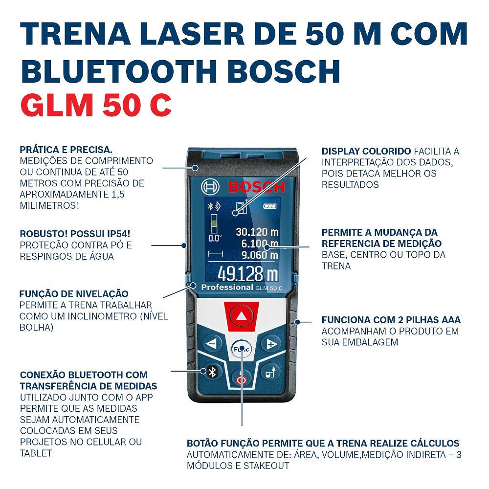 Medidor de Distância a Laser GLM 50 C - BOSCH