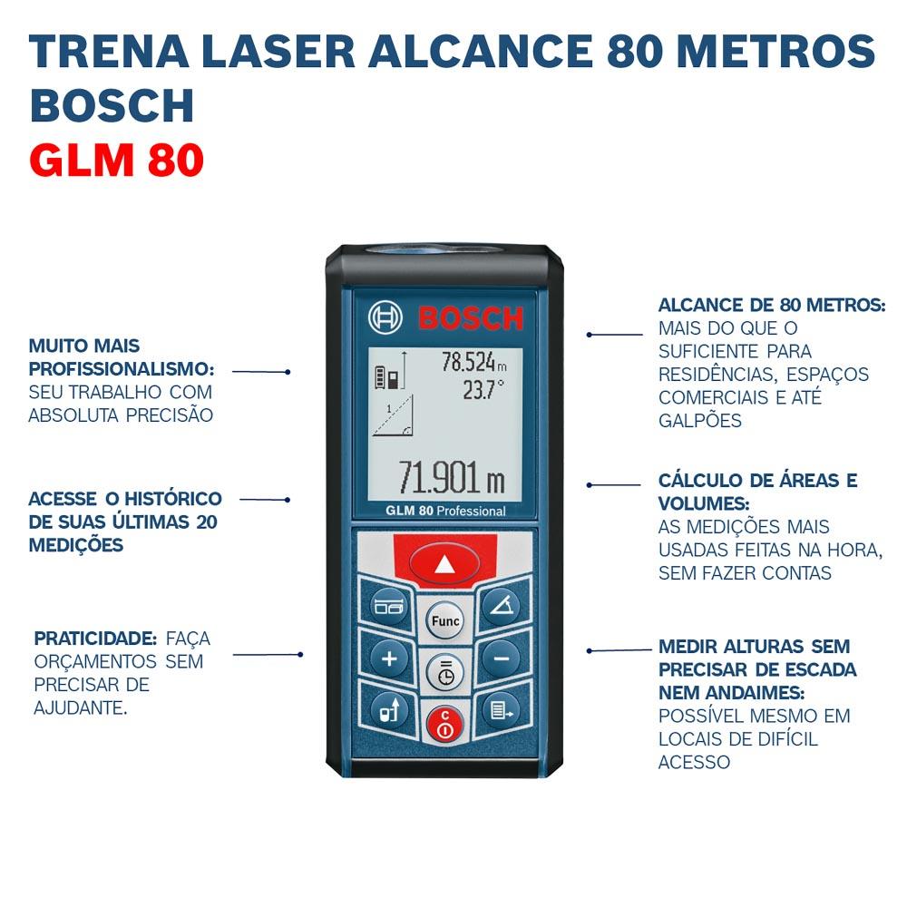 Medidor de Distância a Laser GLM 80 - BOSCH