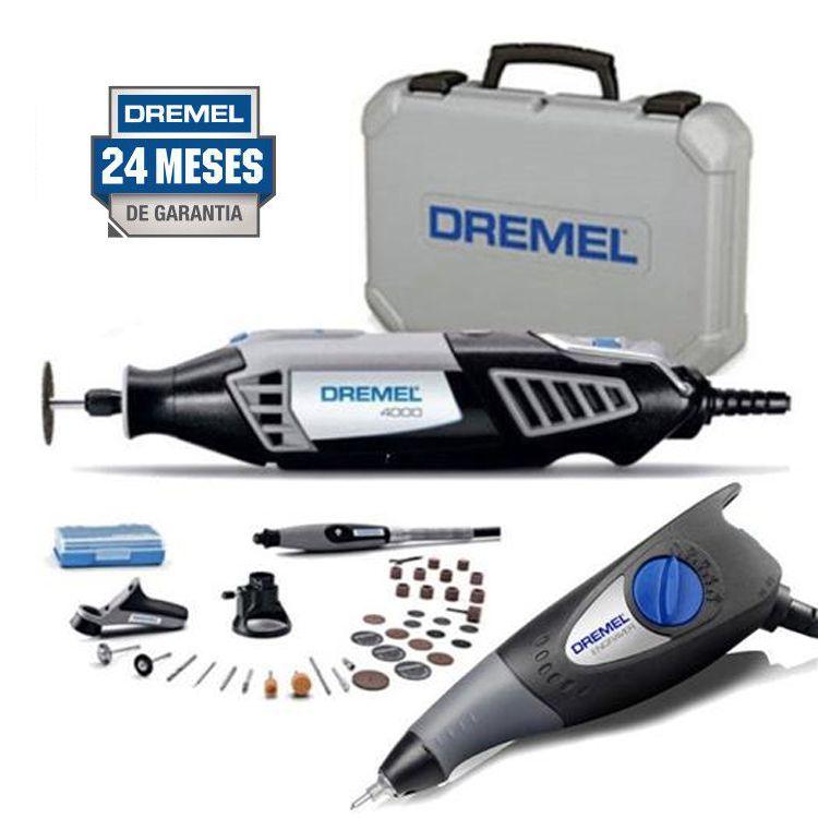 Micro Retífica Dremel 4000 Completa + Gravador 290 110V - Dremel