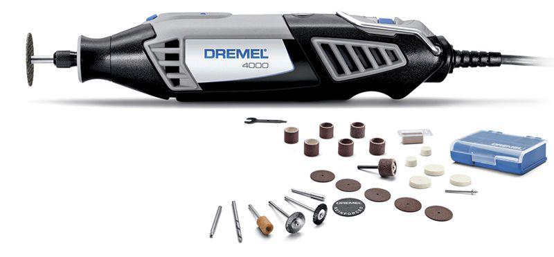 Micro Retífica Elétrica 4000 c/ 26 Acessórios 110V - DREMEL