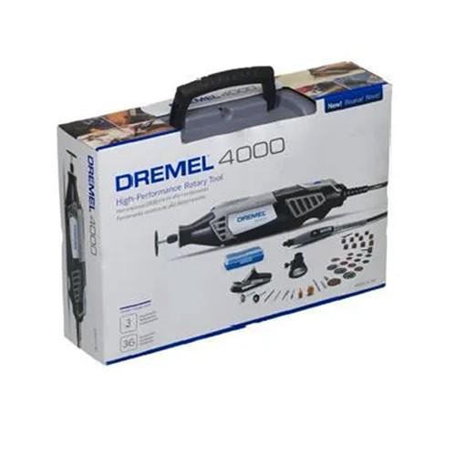Micro Retífica Elétrica 4000 c/ 36 Acessórios e 3 Acoplamentos 220V - DREMEL