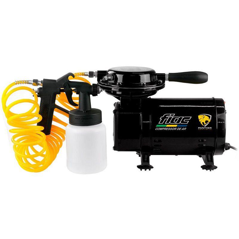 Motocompressor 2,3 Ar Direto 40PSI Bivolt C/Kit Pintura - Fiac Panther