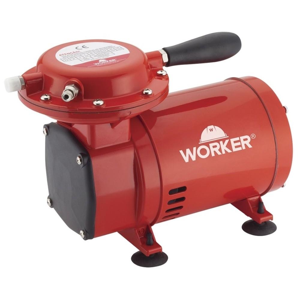 Motocompressor 2,3 Ar Direto Bivolt C/ Kit Pintura  Worker