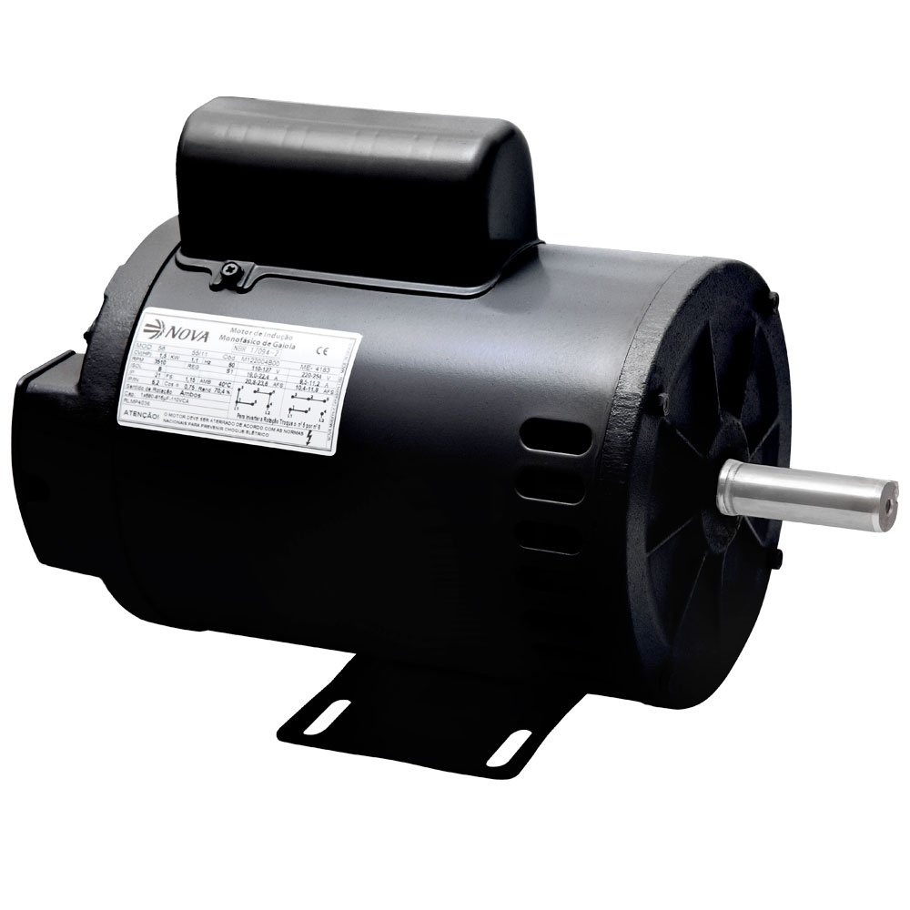 Motor Mono 1/2HP 110/220V Aberto IP21 - Nova Motores
