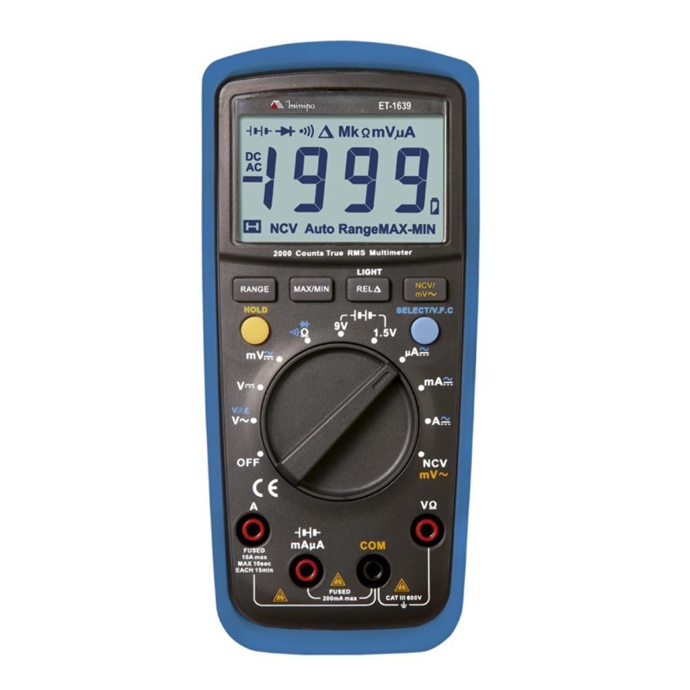 Multímetro Digital C/ Detecção Tensão S/ Contato ET 1639 - MINIPA