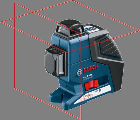 Nivel a Laser de Linhas Com Tripe GLL 2-80 - BOSCH